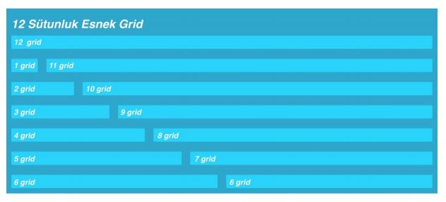 12 Sütunluk Esnek Grid Sistemi