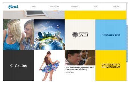 Float New Media Design sitesi arayüz görüntüsü